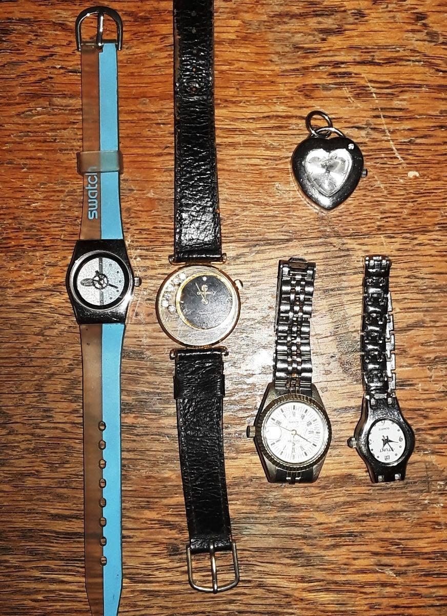 158c46fea80d Lote 6 Relojes Dama Y Niña Funcionan