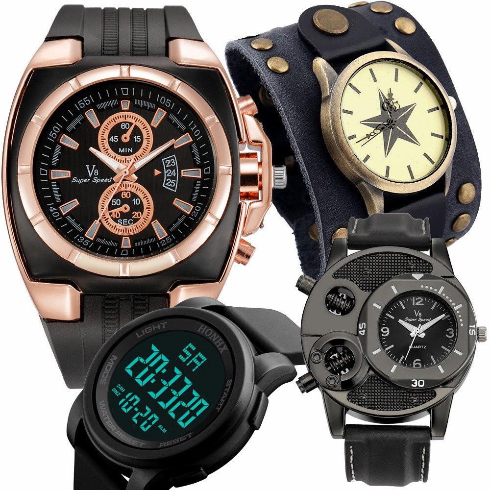 7b539a8626a3 lote 6 relojes hombre moda caballero escoge variedad mayoreo. Cargando zoom.