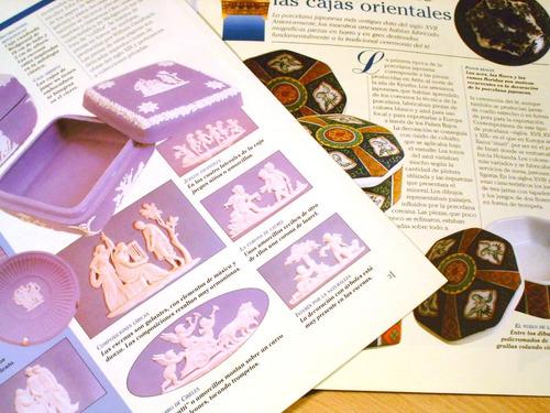lote 6 revistas cajas pastilleros porcelana limoge meissen