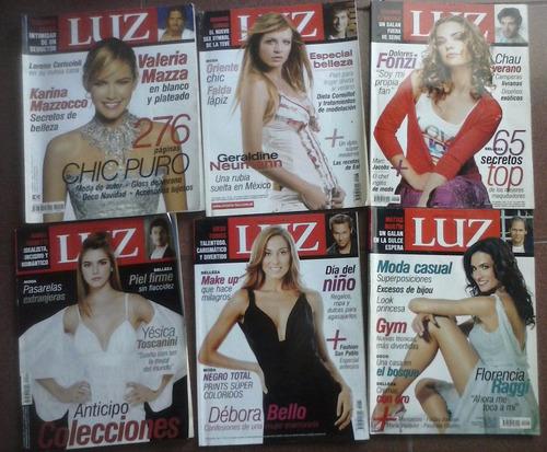 lote 6 revistas luz moda valeria mazza geraldine neuman