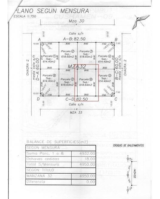 lote 618 m2 epuyen c.urbano t/los serv. finanncia