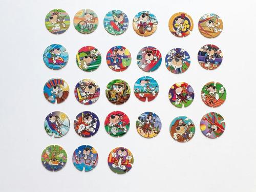 lote : 63 tazos de los años 90
