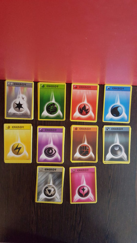lote 66 cartas pokemon energias