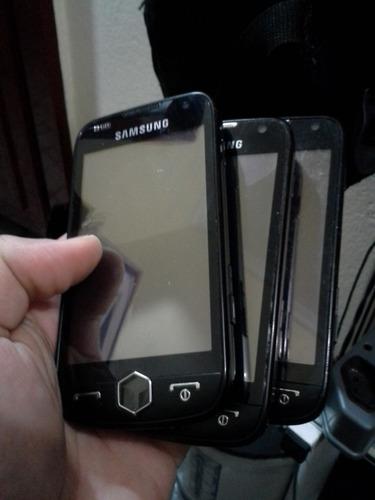 lote 7 celulares samsung omnia 2 gti8000l 9/18 ler descriçao