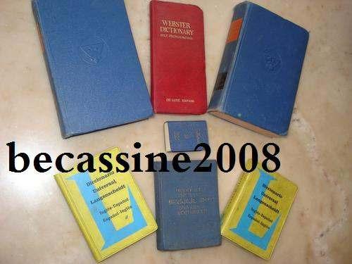 lote 7 diccionarios de bolsillo -  alemán / francés / inglés