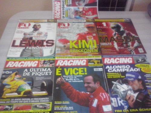 lote 7 revistas de f1 matérias de grandes pilotos f1