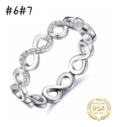lote 8 anillos plata genuina ventas por mayor joyas mujer