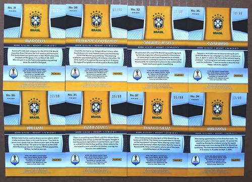 lote 8 card prizm refractor roxo série #/99 copa mundo 2018