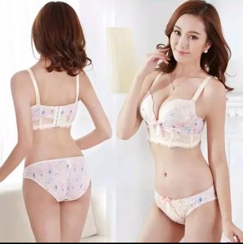 lote 8 coordinados (bra y panty). moda asiática.
