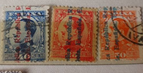 lote 8 estampillas españa 1931 alfonso xiii