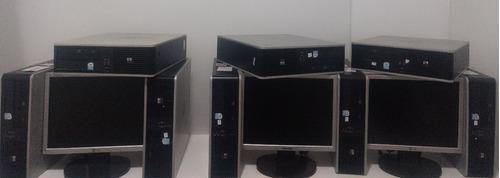 lote 8 kits computadores hp compaq c/ tela de 15 polegads