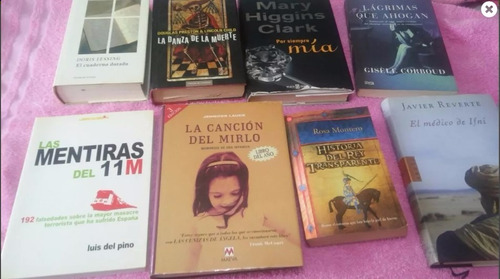 lote 8 libros a eleccion x solo $1200. tengo mas q los publi