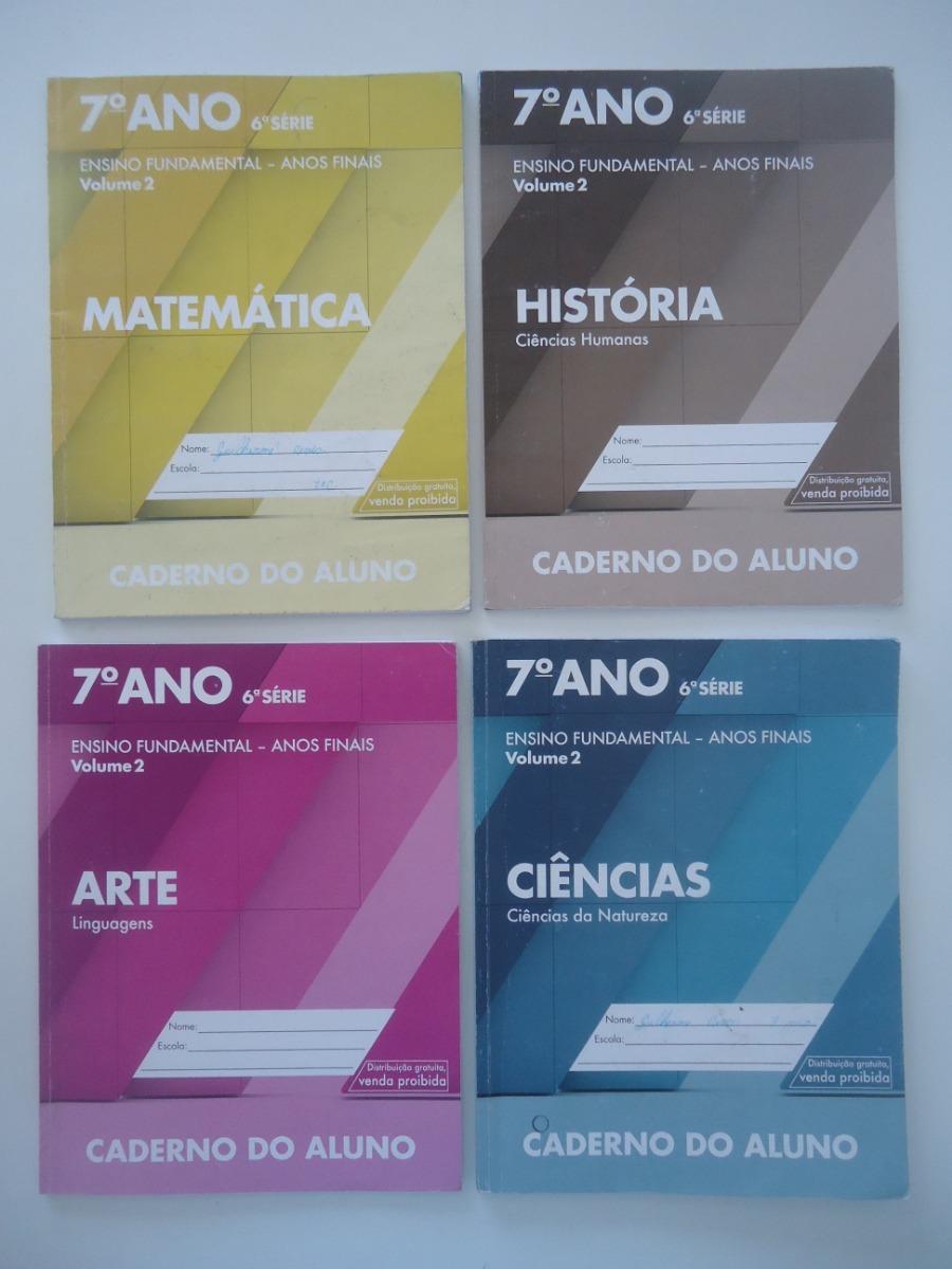 Lote 8 Livros Caderno Do Aluno 7º Ano 6ª Serie R 49 76 Em