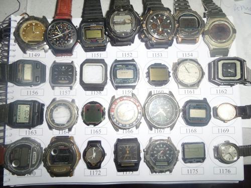 lote 8 sucatas casio e outros - máquina do tempo