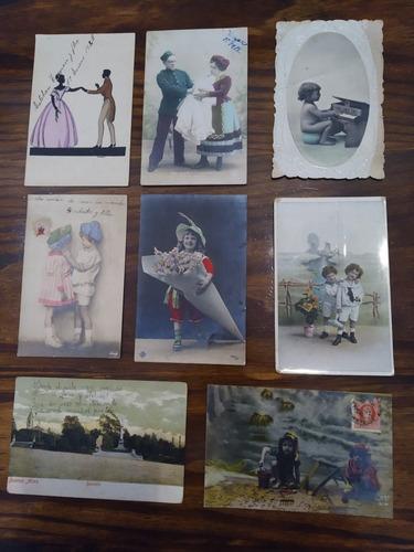 lote 8 tarjetas postales antiguas