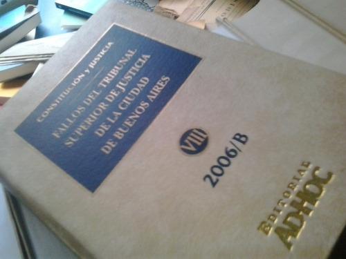 lote 8 tomos jurisprudenc  fallos tribunal superior caba dyf