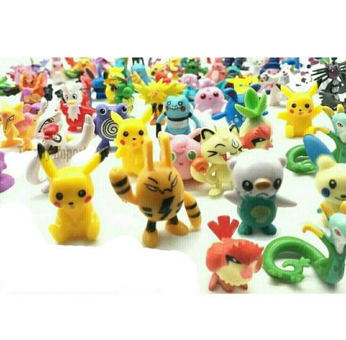 lote 80 figuras pokemon 2 a 3 cm al azar incluye pikachu