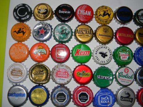 lote 80 tapas corona cervezas y bebidas diferentes