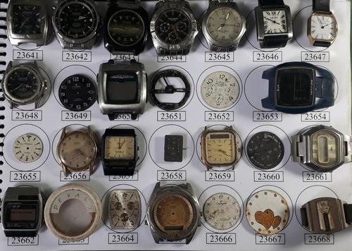 lote 85 sucatas casio e outros- máquina do tempo