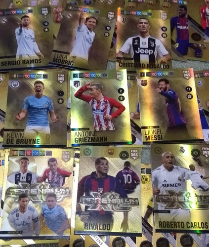lote 9 + 67 cards fifa 365 2019 limiteds adrenalyn panini