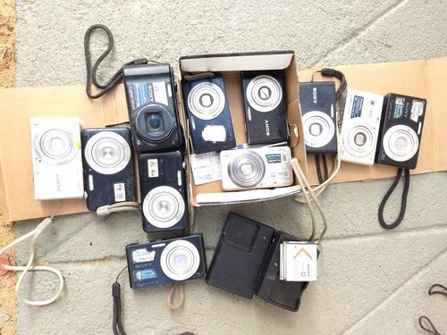 lote 9 máquina fotográfica sony cyber shot