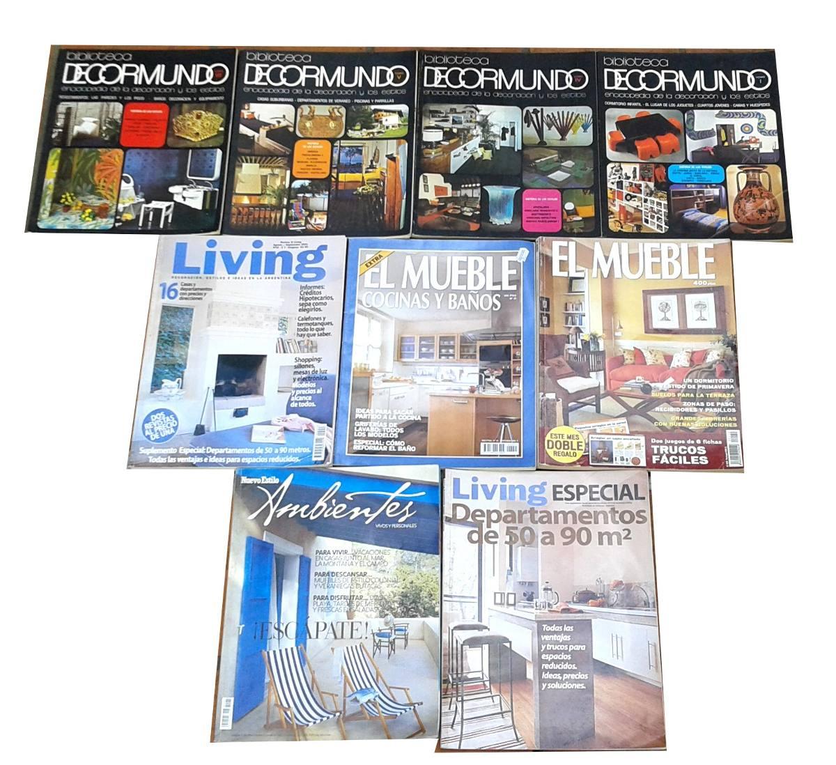 Lote 9 Revistas Decoraci N Decormundo Living Mueble Y Otras  # Muebles Padilla Cordoba