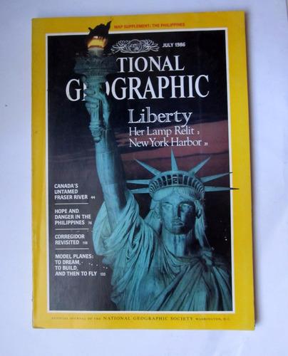 lote 9   revistas national geographic  año 1986
