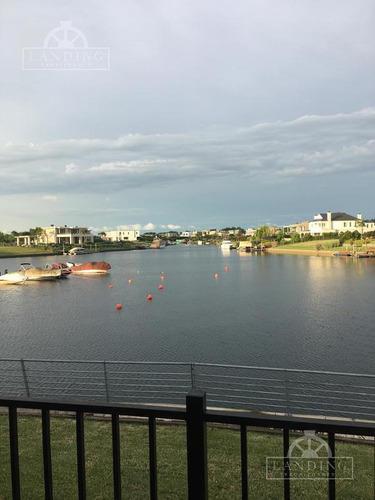 lote al agua - barrio náutico albanueva - rincón de milberg