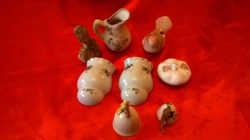 lote antiguas piezas de porcelana ceramica
