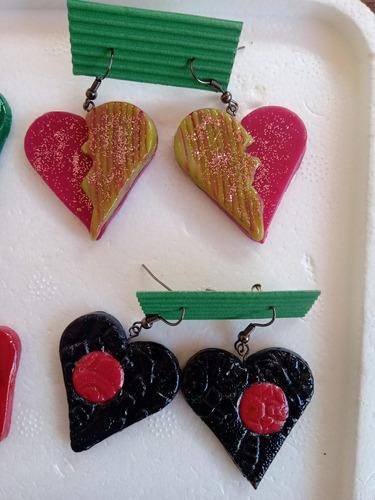 lote aros artesanales regalo reyes únicos! corazones