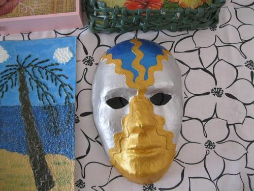 lote artesanias decoupage bandeja botellas mascara no envio