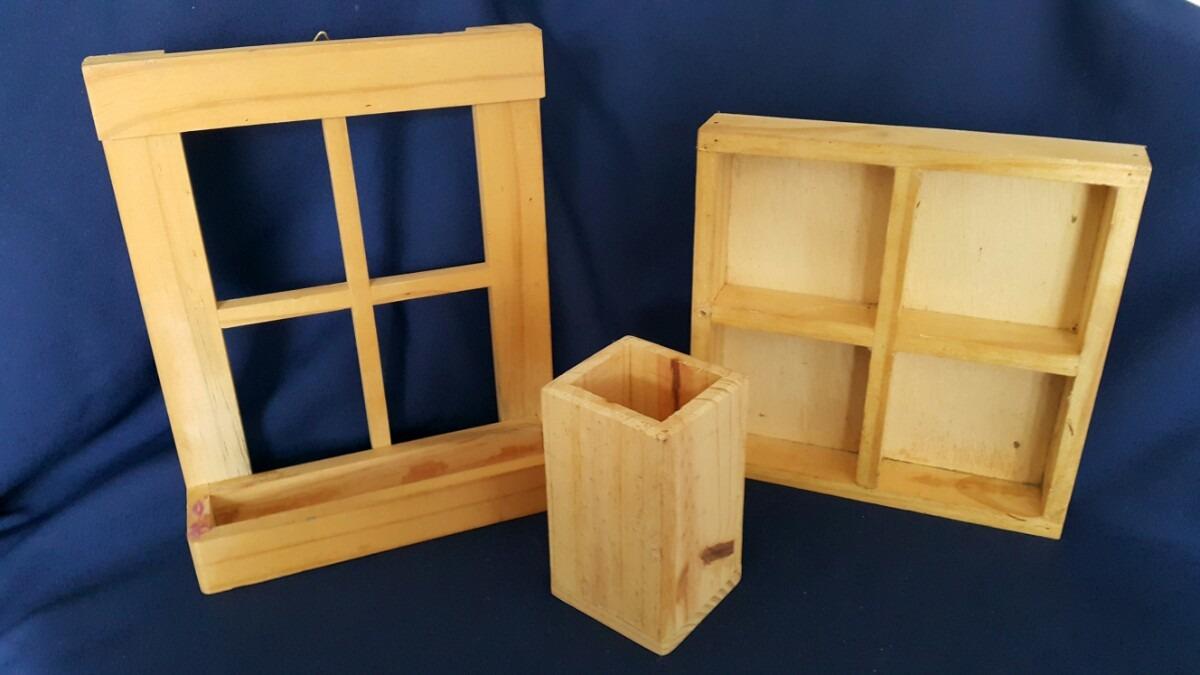 Lote articulos para manualidades en madera ventana 383 - Madera para manualidades ...
