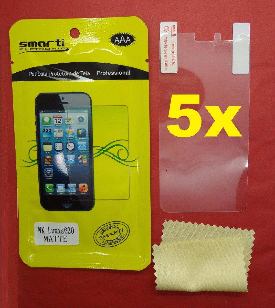 Lote Atacado 5x Pelicula Smarti Fosca Nokia Lumia 620 R 600 Em Magenta Carregando Zoom