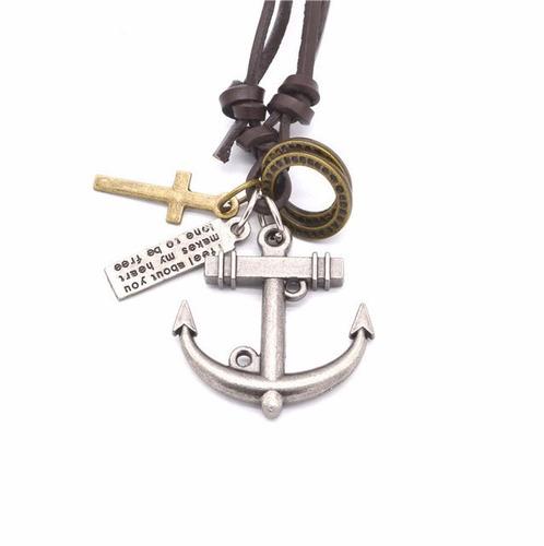 lote atacado kit 12 colar cordão masculino couro ajustável