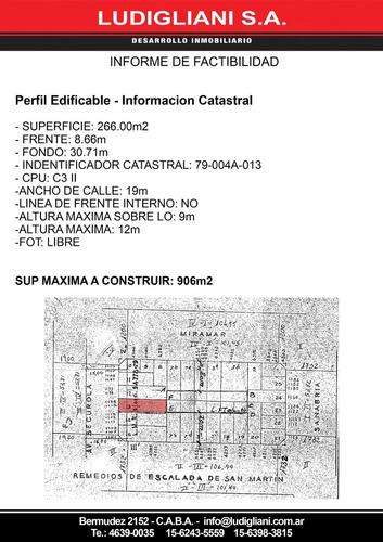lote av segurola 1119/1125 zonif c3ii fot libre