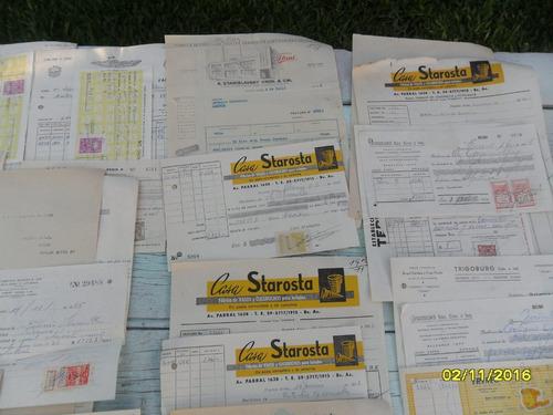 lote boletas con aprox 34 estampillas ley de sellos
