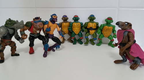 lote bonecos antigos coleção tartarugas ninja 1989 raros
