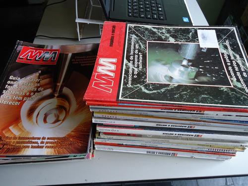 lote c/ 06 revistas mm maquinas e metais - usinagem