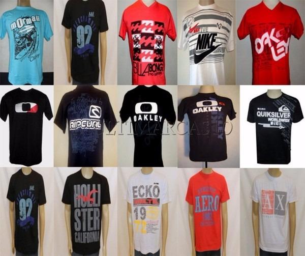Lote C  100 Unidades De Camisetas Camisas Masculinas Atacado - R ... a319327075