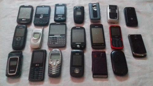 lote c/ 20 celulares(retirada a de peças-colecionadores