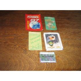 Lote C/ 4 Envelopes De Figurinhas Brasileiro 97 E Copa União