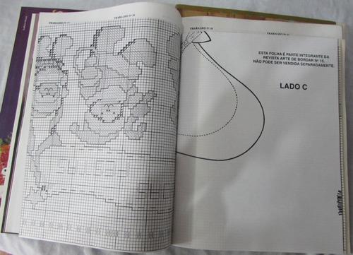 lote c/ 4 revistas arte de bordar - ano 1991 - a87