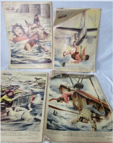 lote c/ 4 revistas grande hotel antigas década de 50 - a72