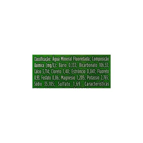 lote c/ 40 água mineral natural com gás crystal 500ml