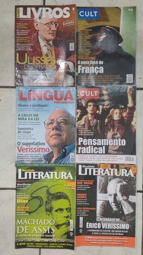 lote c/ 6 revistas entre livros cult literatura frete grátis