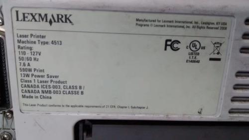 lote c/10  impressoras lexmark usada para retirada de peças.