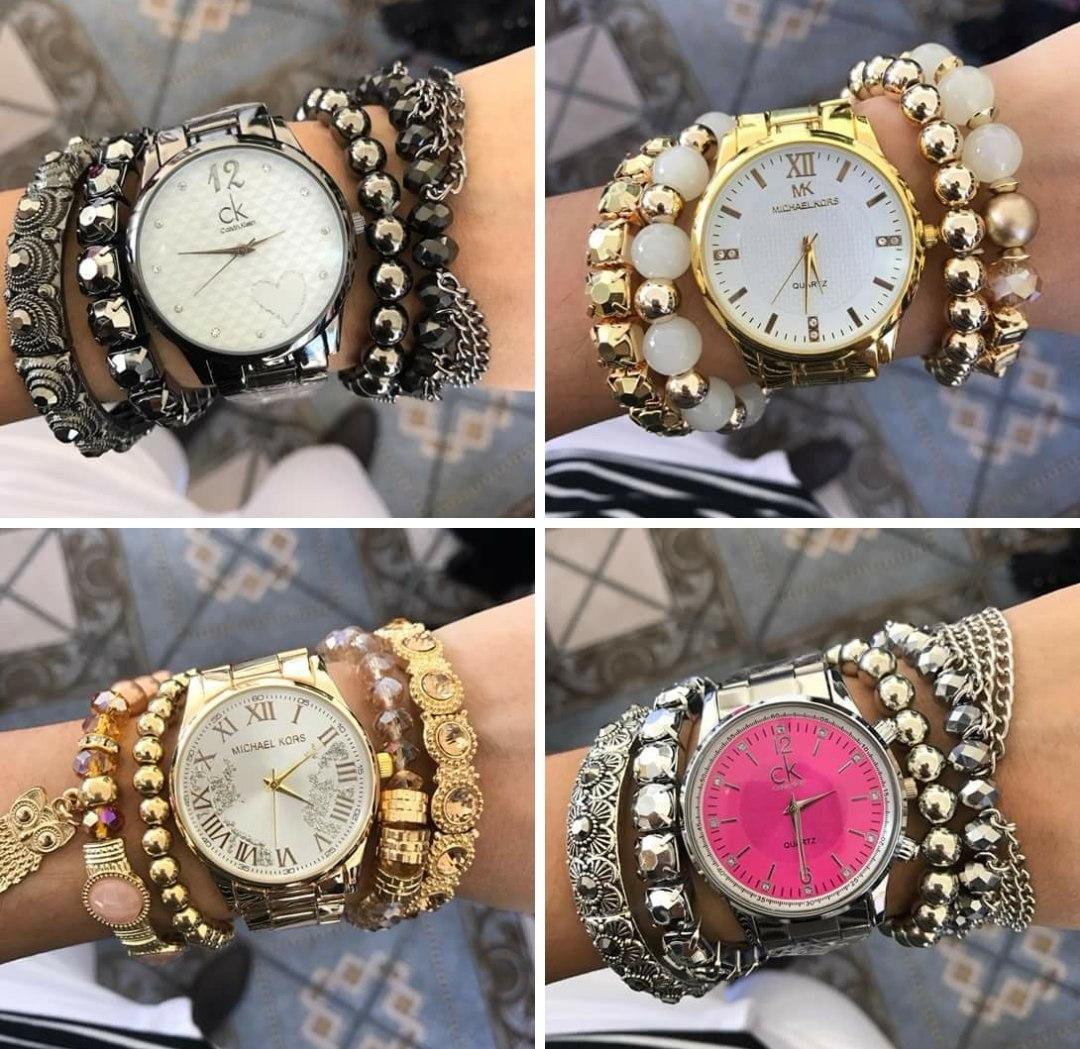 1797a822280 ... relógios feminino+pulseiras exclusivo atacado kit. Carregando zoom.