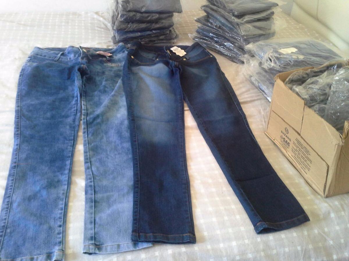 5330dba1e Lote Calças jeans Feminina Revenda 63 Peça 1.500