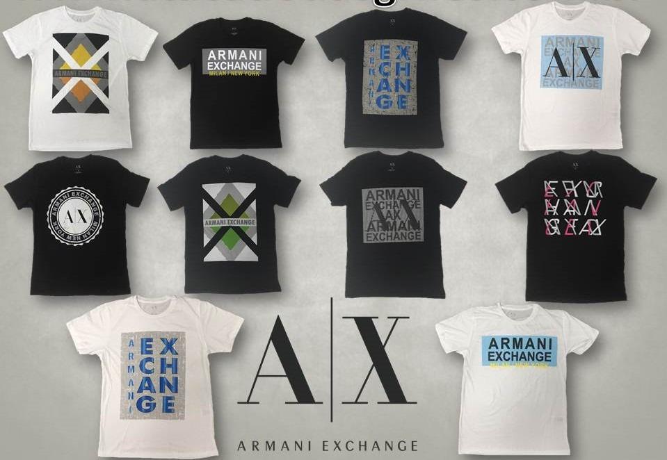 6c820f0d12d lote camisetas originais armani exchange. Carregando zoom.