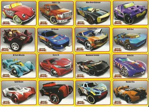 lote  cards hot wheels sem repetição
